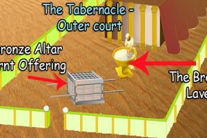 The Tabernacle was divided up in 3 sections